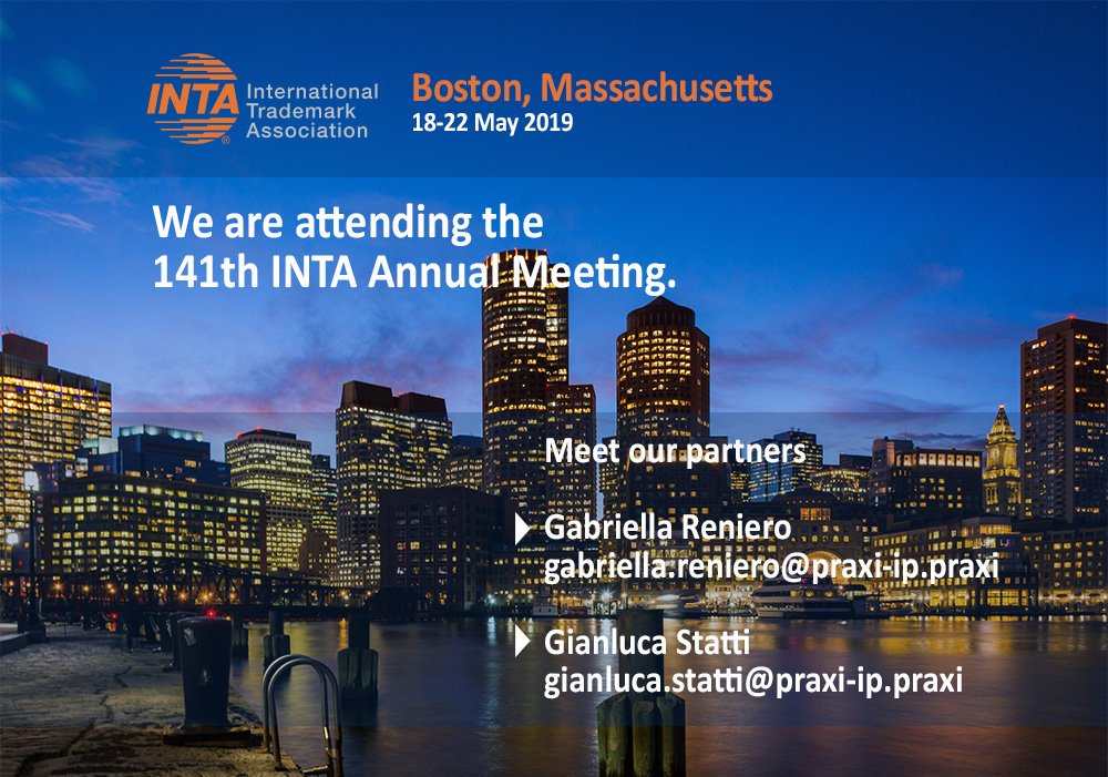 PRAXI Intellectual Property will attend INTA 2019